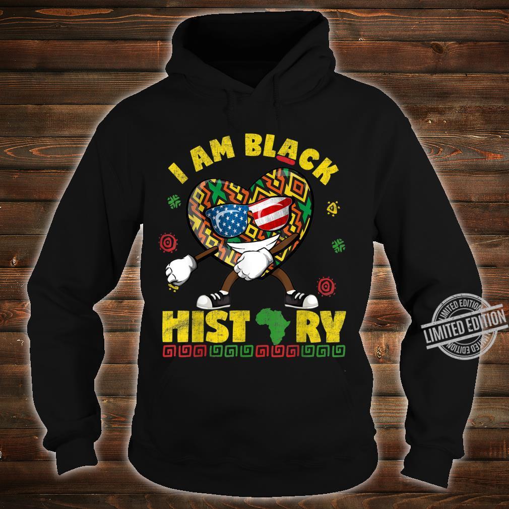 I Am Black History Flossing African American USA Flag Shirt hoodie