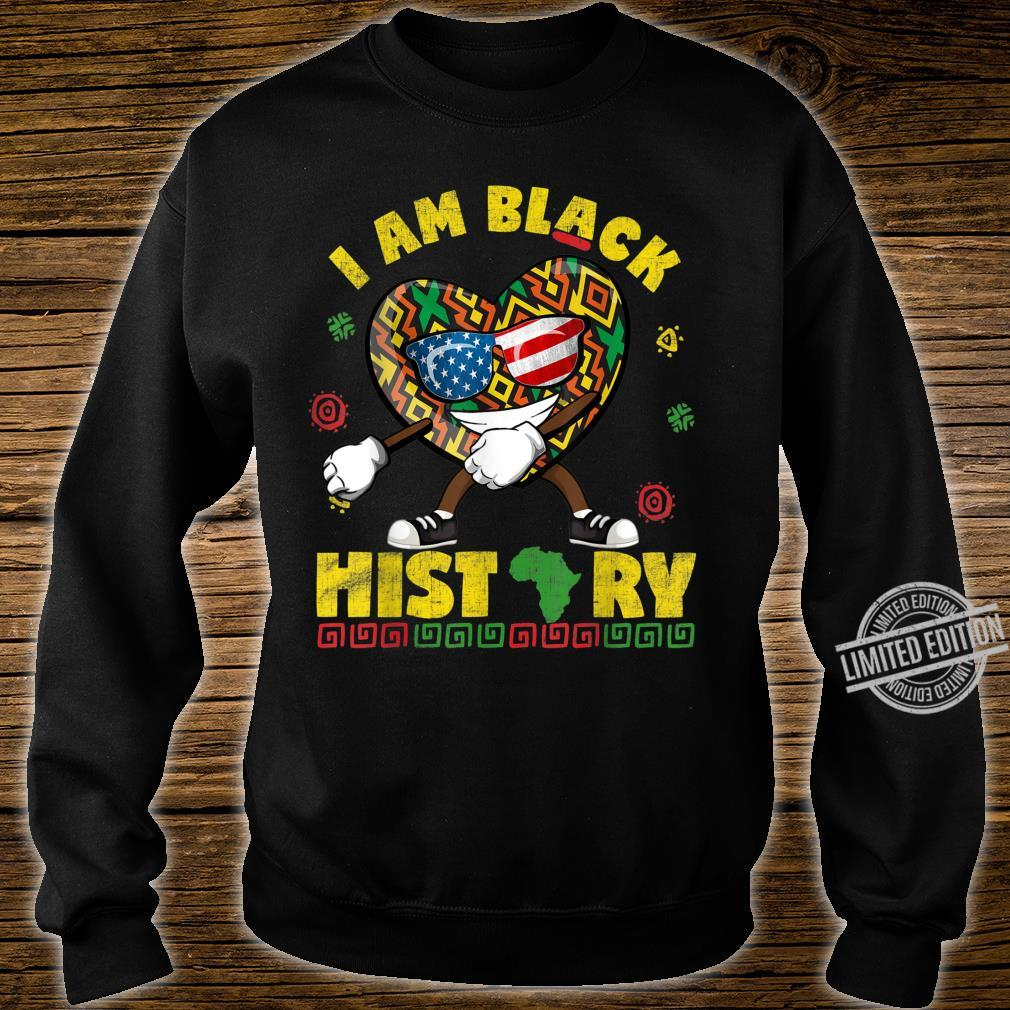 I Am Black History Flossing African American USA Flag Shirt sweater