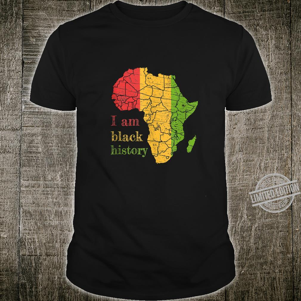 I Am Black History Month Celebration African American Shirt