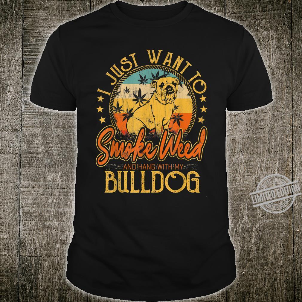 I Just Want To Smoke Weed & Hang With My Alaskan Malamute Shirt