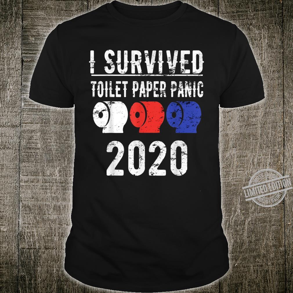 I SURVIVED TOILET PAPER PANIC 2020 Shirt Pandemic Flu Shirt