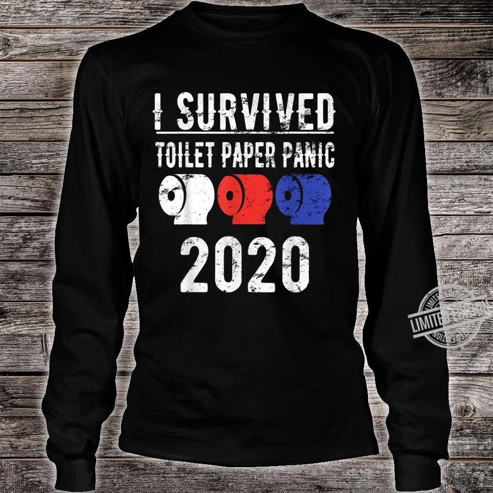 I SURVIVED TOILET PAPER PANIC 2020 Shirt Pandemic Flu Shirt long sleeved