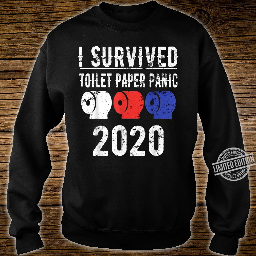 I SURVIVED TOILET PAPER PANIC 2020 Shirt Pandemic Flu Shirt sweater