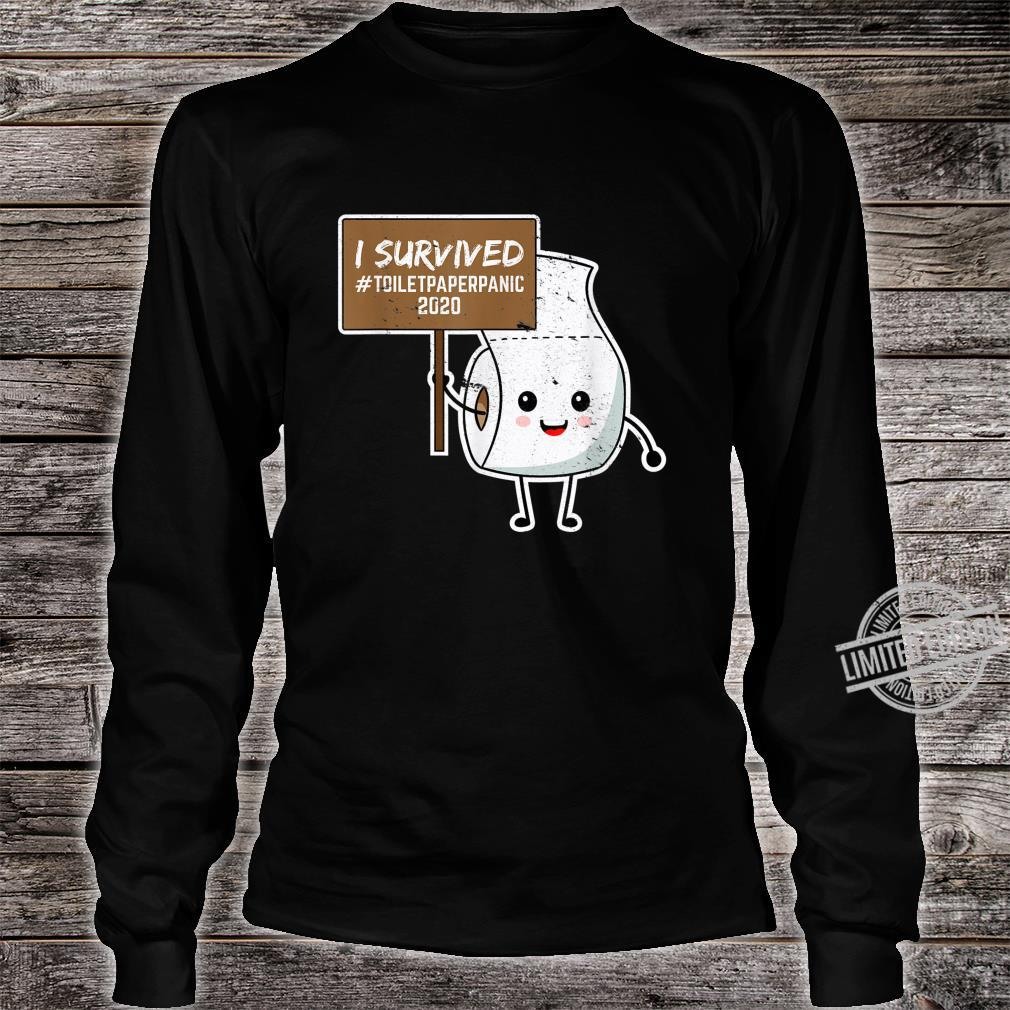 I Survived Toilet Paper Shortage Germs Virus Shirt long sleeved