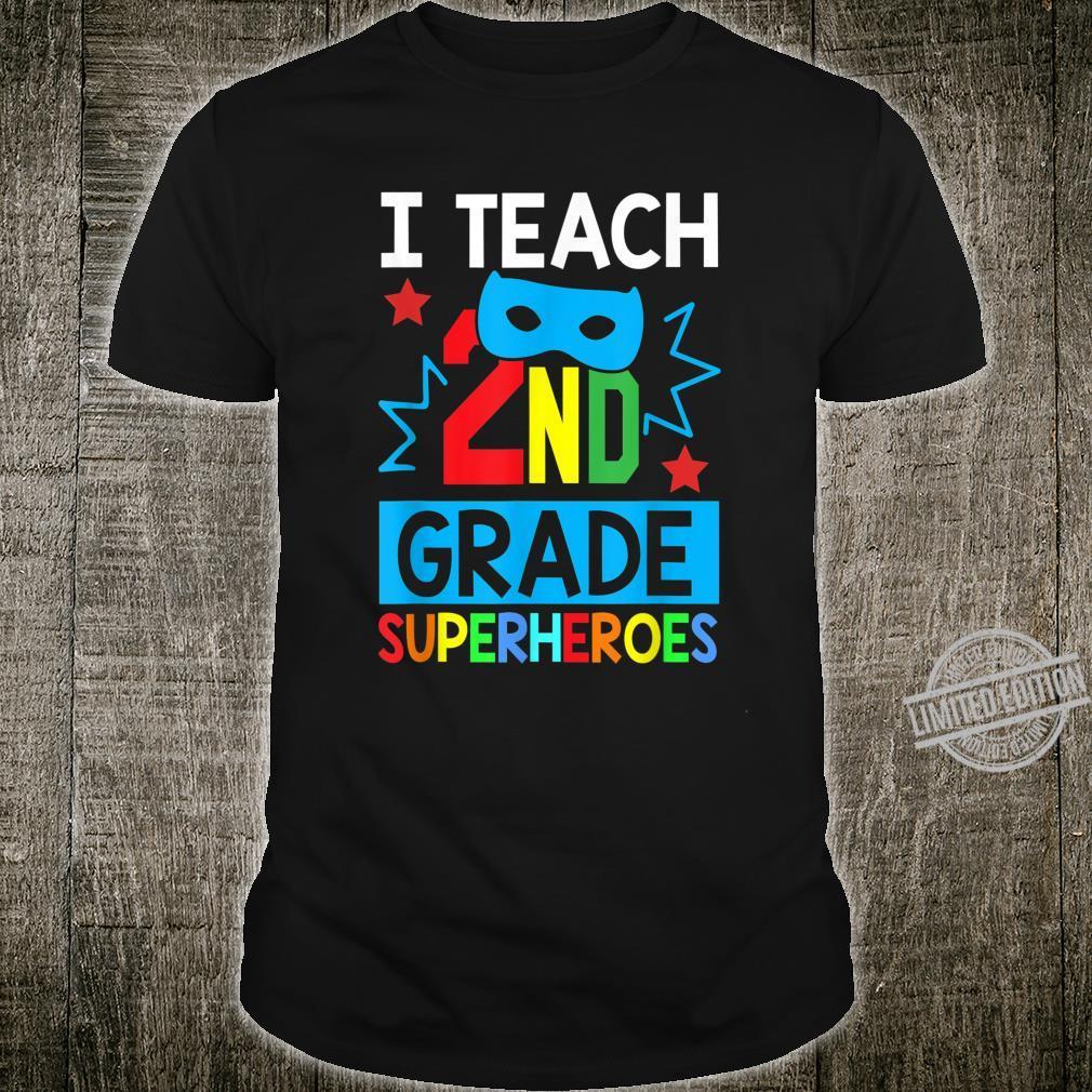 I Teach 2ND Grade Superheroes Summer Super Teacher Shirt
