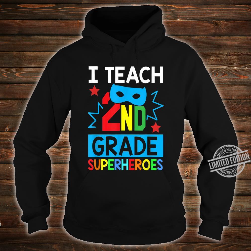 I Teach 2ND Grade Superheroes Summer Super Teacher Shirt hoodie