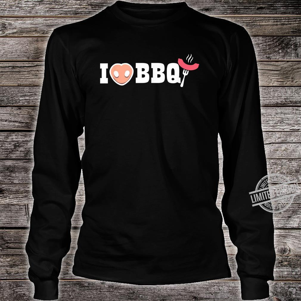 I love BBQ backyard grill master grilling Shirt long sleeved