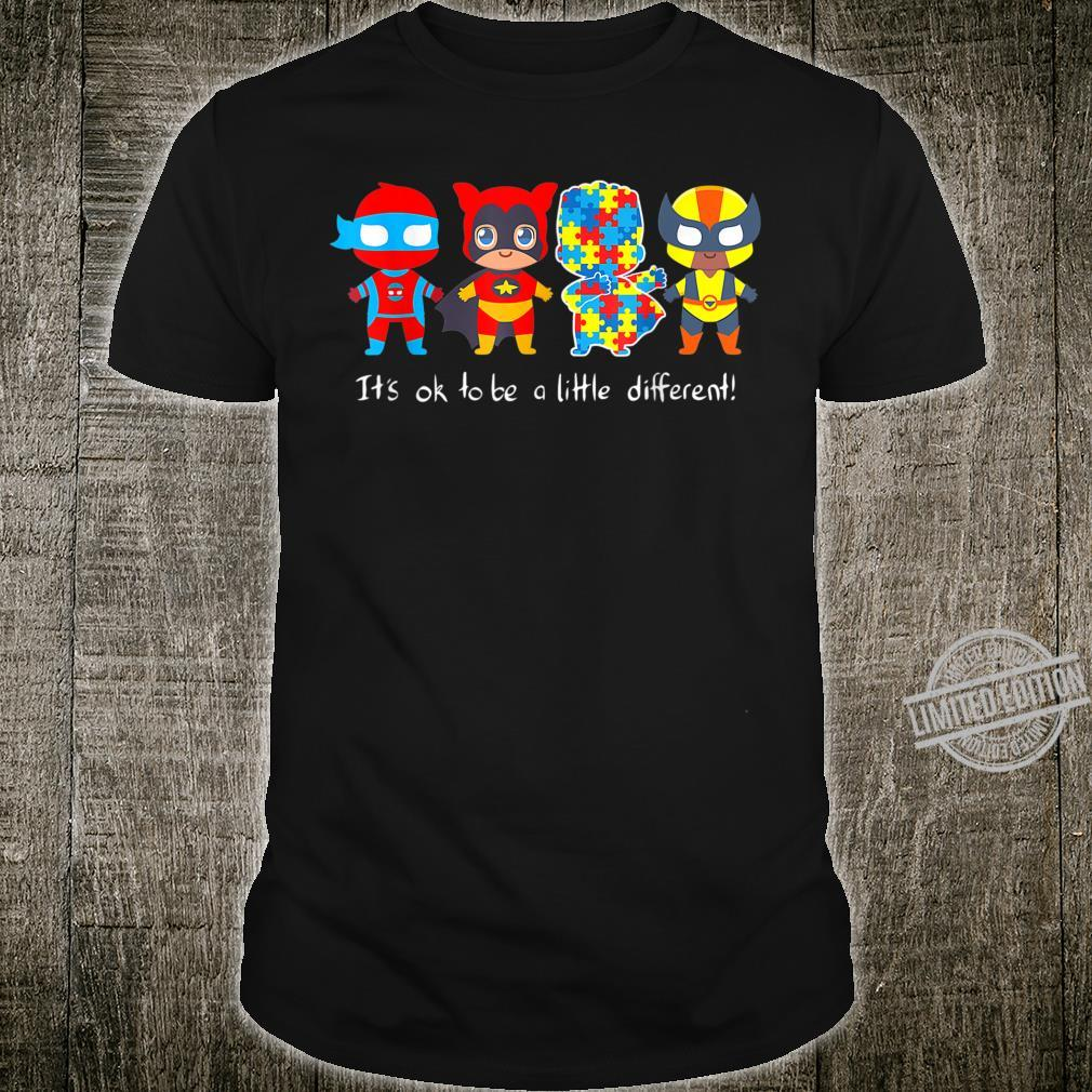 It_s Ok To Be A Little Different Autism Awareness Shirt