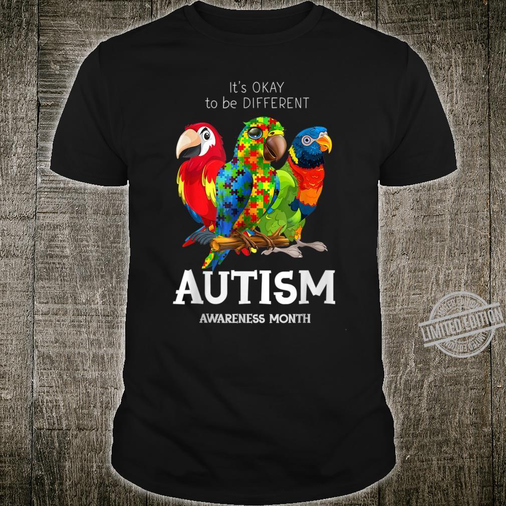 It_s Ok To Bes Differents Parrotss Autism Shirt