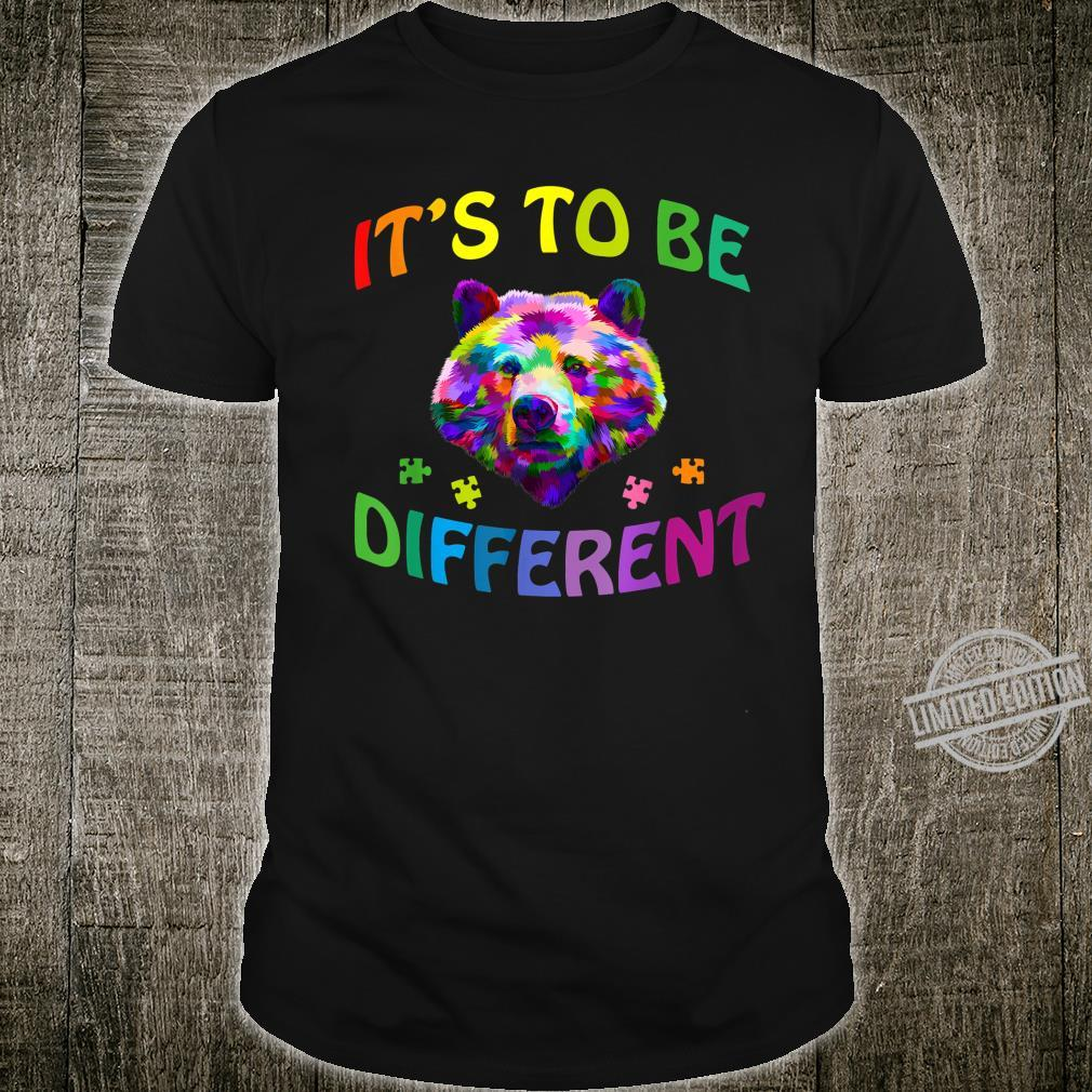 It's OK to be different Colorful bear shirt Autism Awareness Shirt