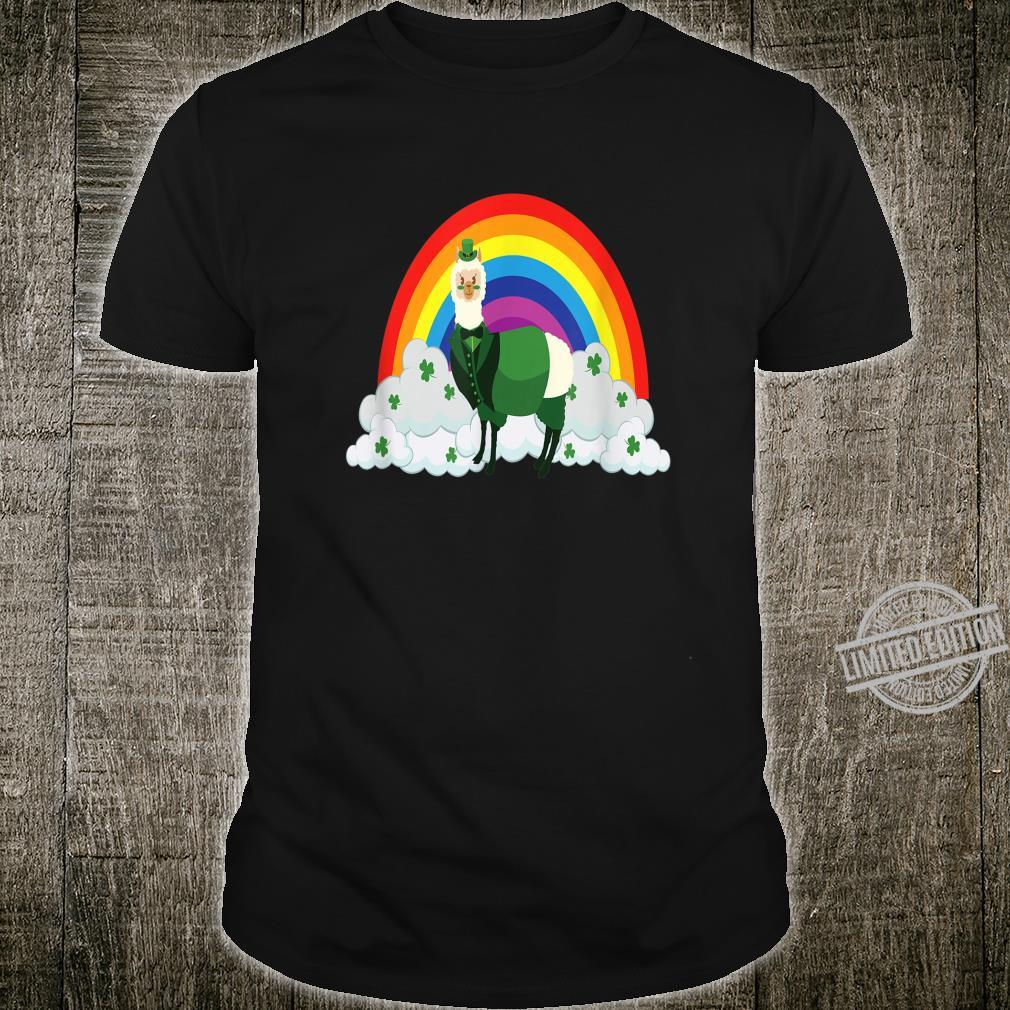 Its St Patricks Day Leprechaun Llama Costume Shirt