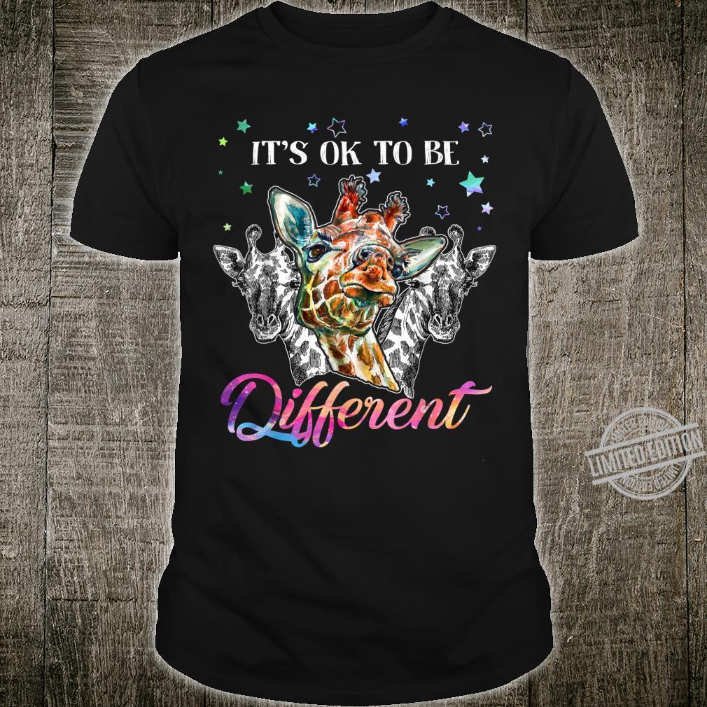 It's ok to be different giraffe Shirt