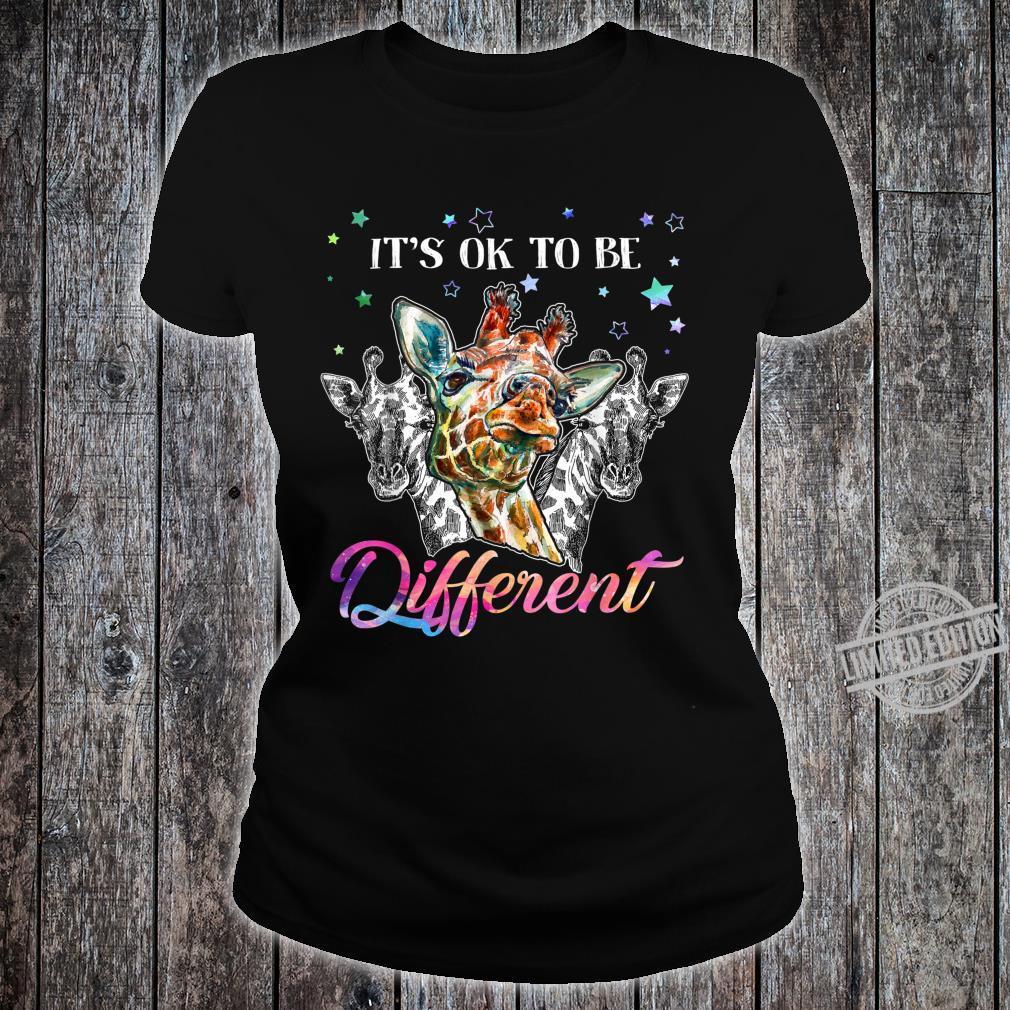 It's ok to be different giraffe Shirt ladies tee
