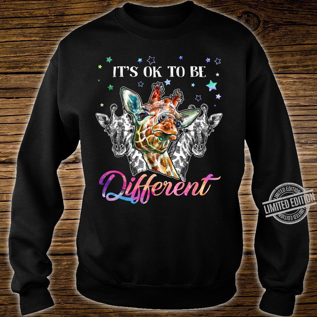 It's ok to be different giraffe Shirt sweater