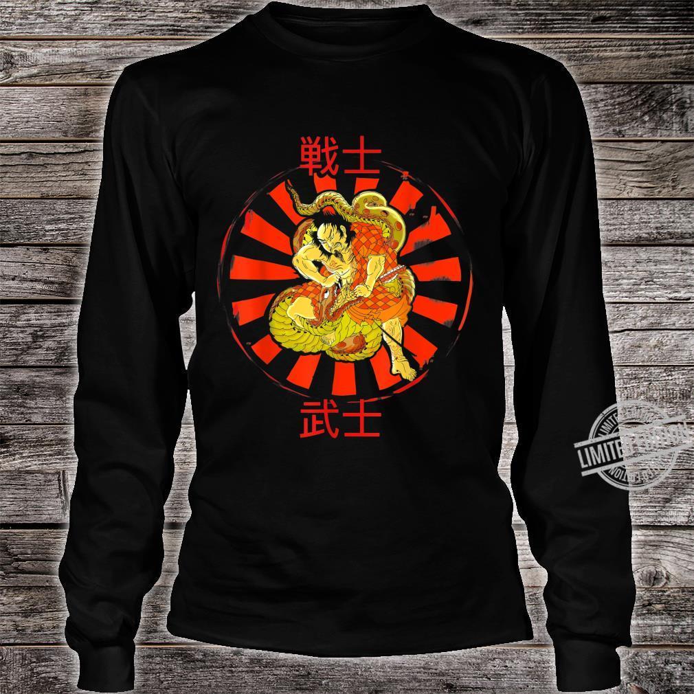 JAPANESE POP ART, SAMURAI WARRIOR ILLUSTRATION Shirt long sleeved