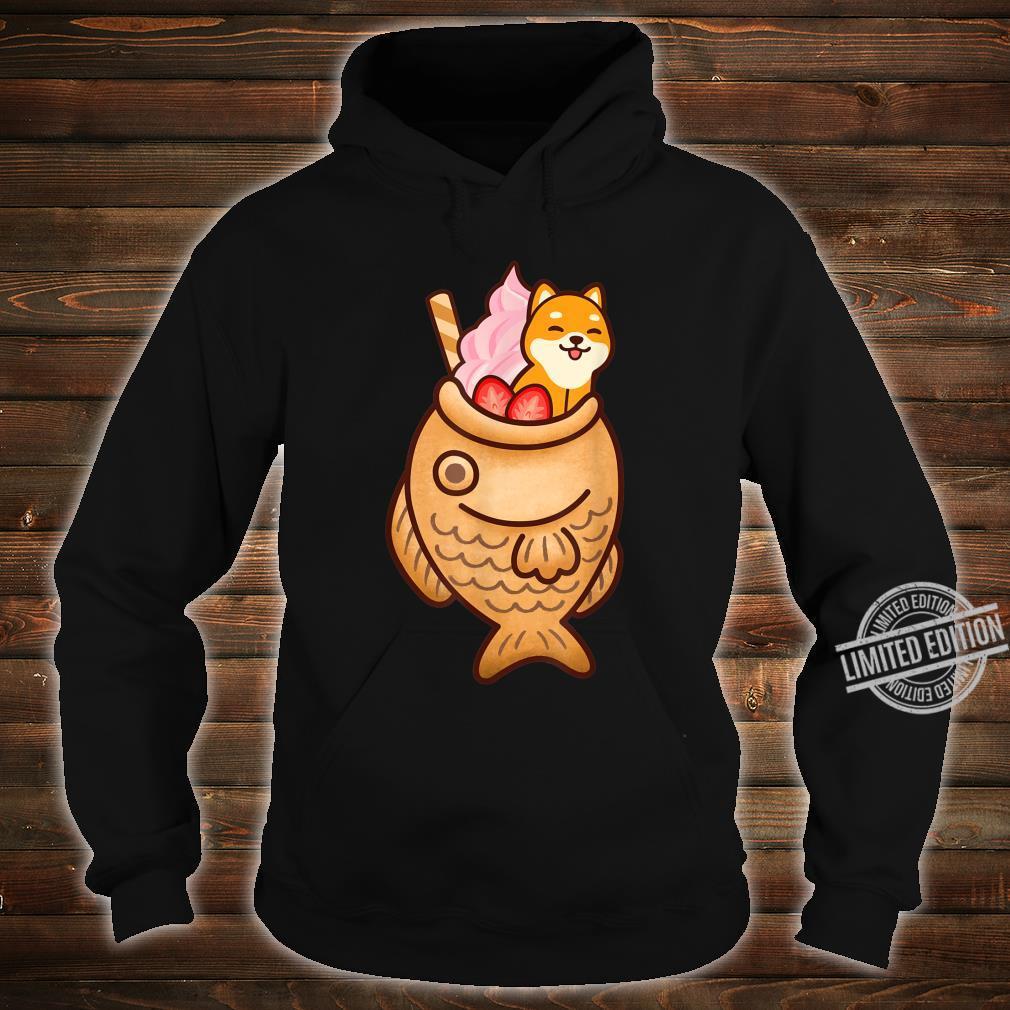 Japanese Taiyaki Fish Cake & Ice Cream Kawaii Shiba Inu Dog Shirt hoodie