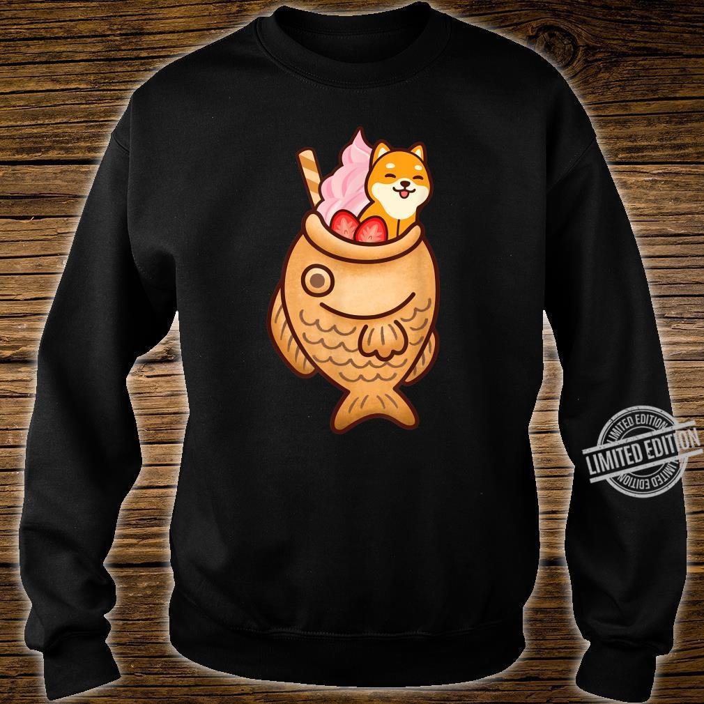 Japanese Taiyaki Fish Cake & Ice Cream Kawaii Shiba Inu Dog Shirt sweater
