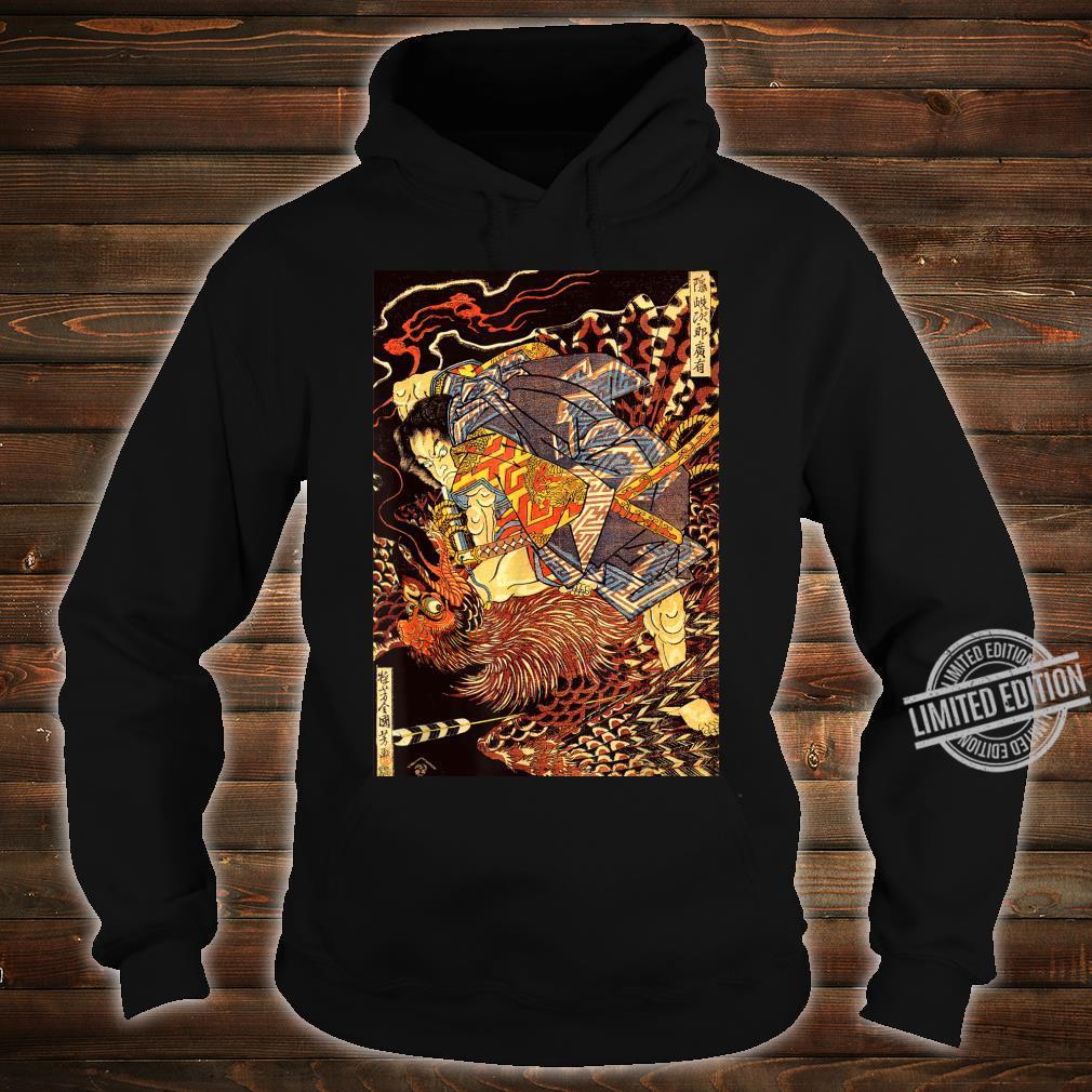 Japanese Vintage Artwork Samurai Against The Phoenix Art Shirt hoodie