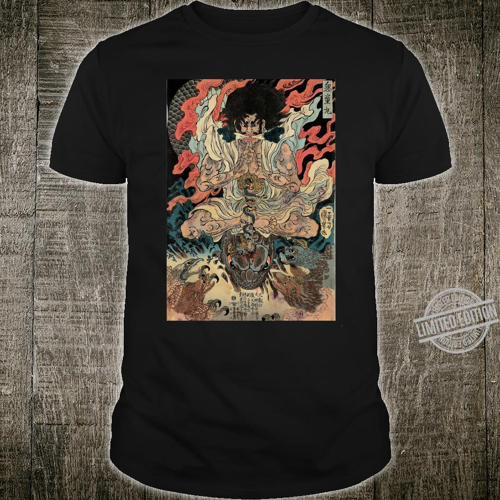 Japanese Vintage Artwork Tengu Gods Defeat The Evil Snake Shirt