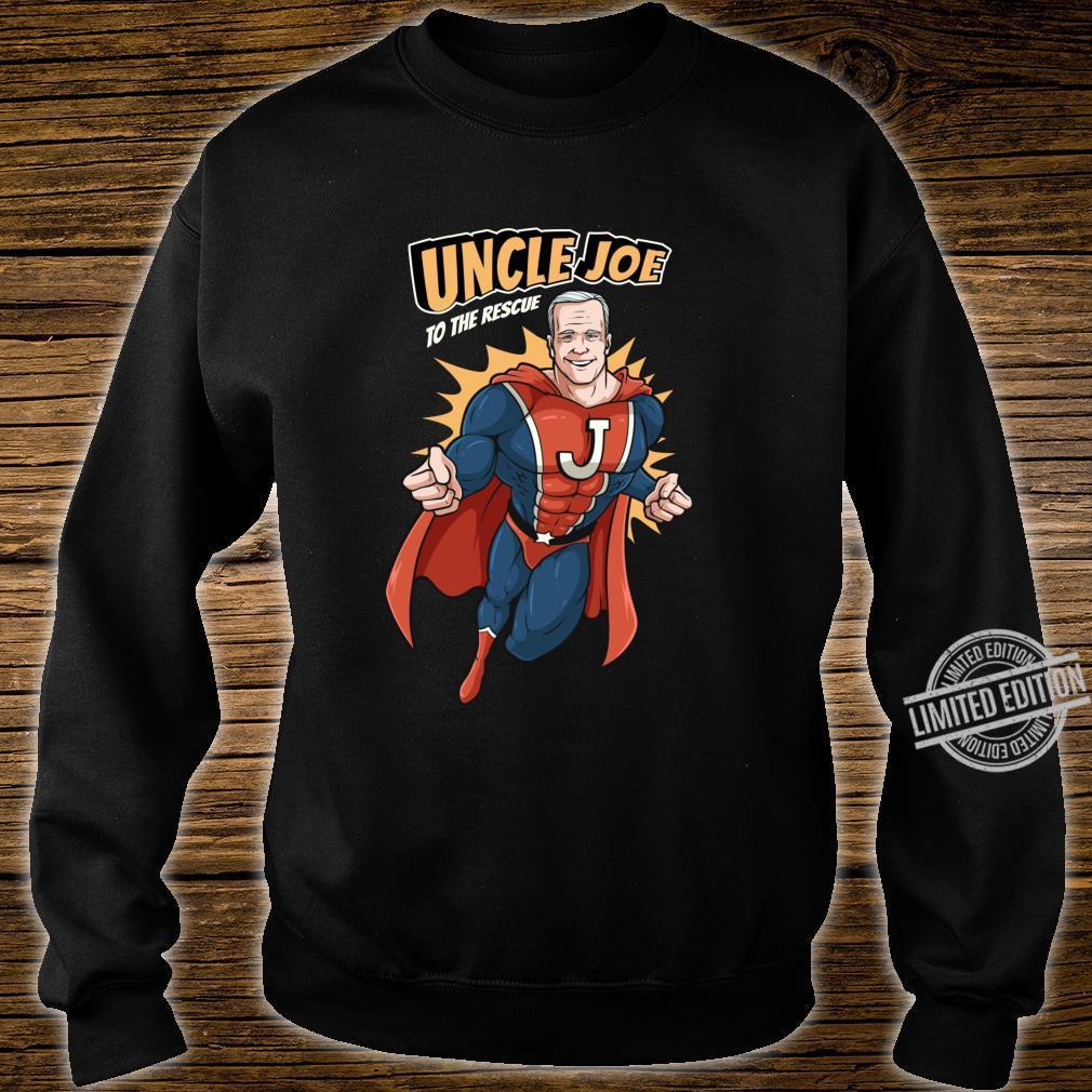 Joe Biden Shirt 2020 Superhero Uncle Joe To The Rescue Shirt sweater