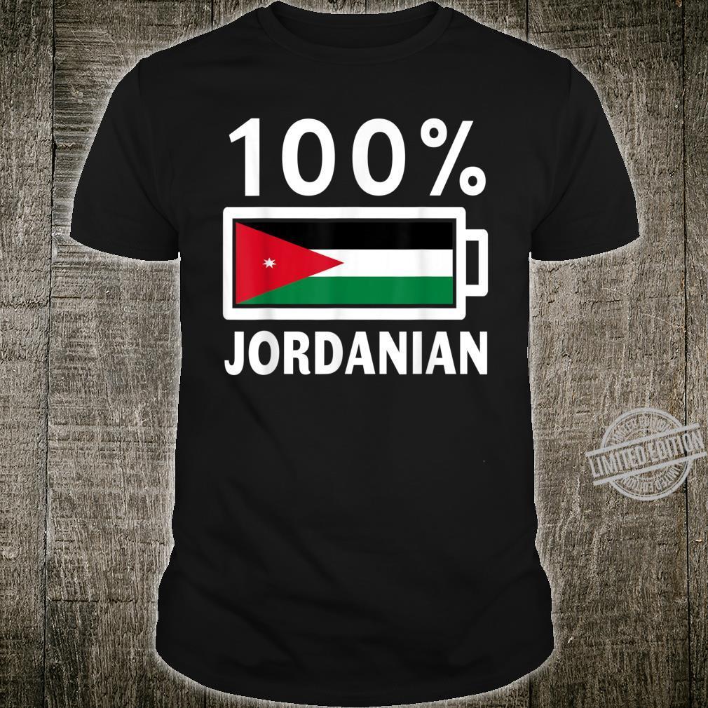 Jordan Flag 100% Jordanian Battery Power Shirt