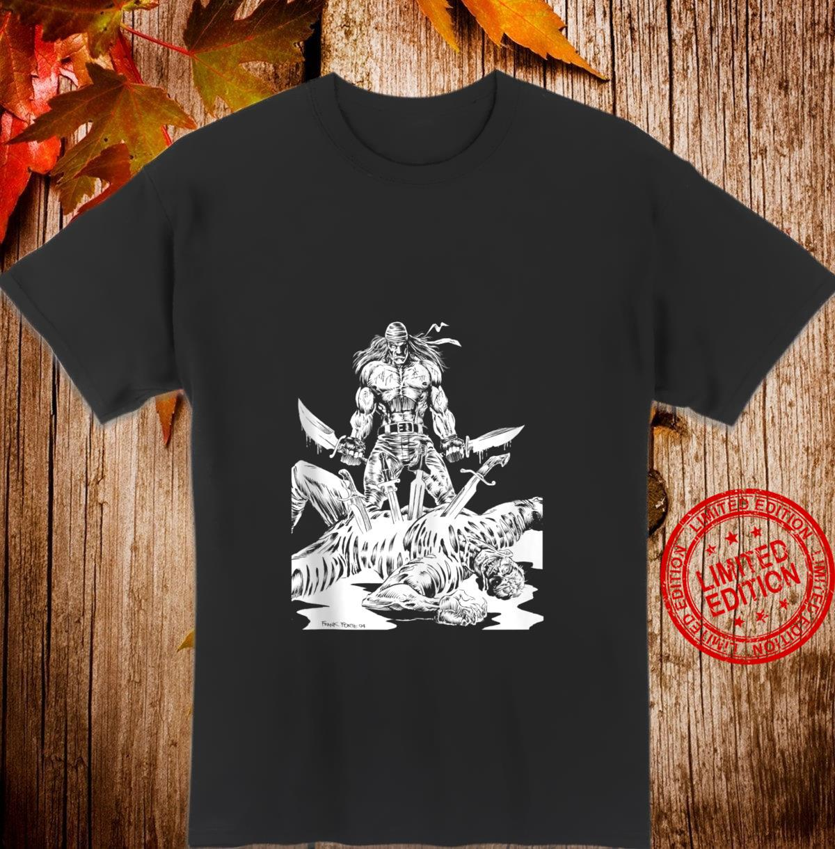KNIFE MAN Vintage Zombies Undead Illustrated Horror Shirt