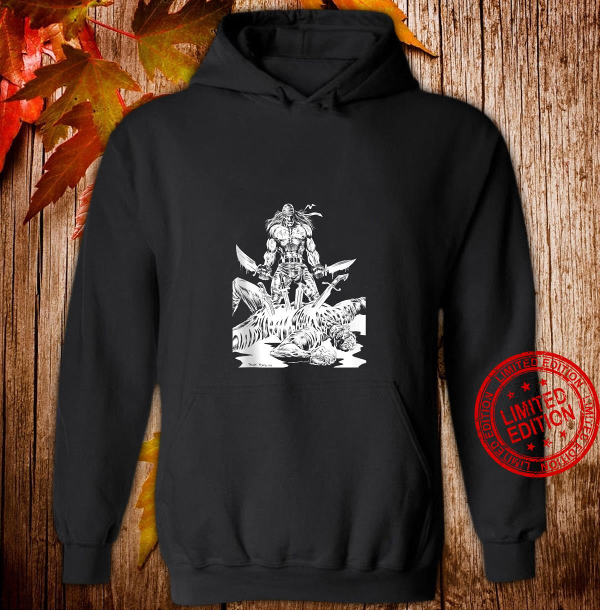 KNIFE MAN Vintage Zombies Undead Illustrated Horror Shirt hoodie