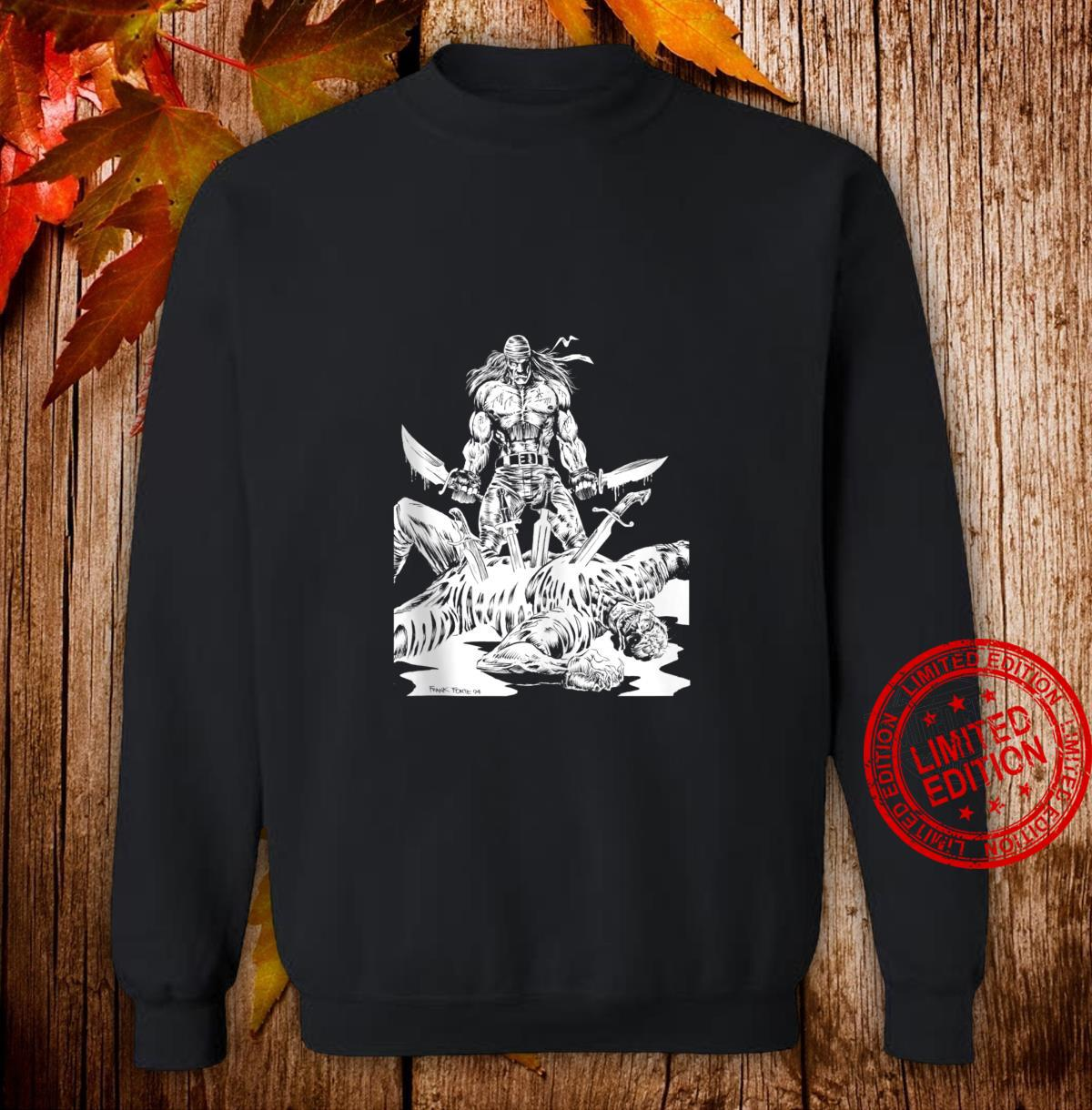 KNIFE MAN Vintage Zombies Undead Illustrated Horror Shirt sweater