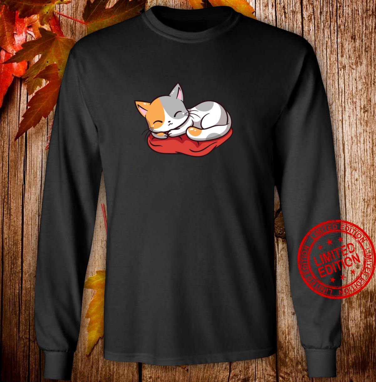 Kawaii süße japanische Anime Katze Neko Girl Langarmshirt Shirt long sleeved