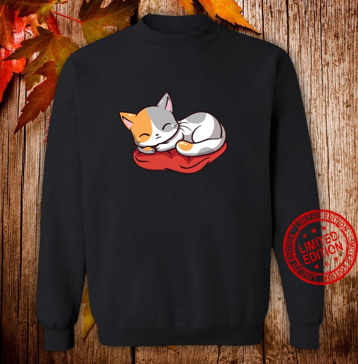 Kawaii süße japanische Anime Katze Neko Girl Langarmshirt Shirt sweater