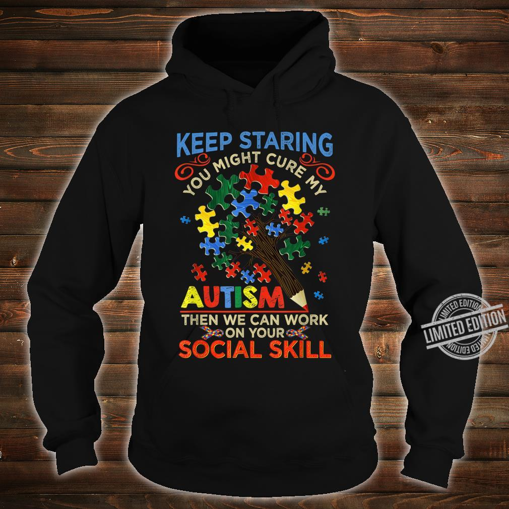 Keep Staring You Might Cure My Autism Heart Puzzle Shirt hoodie