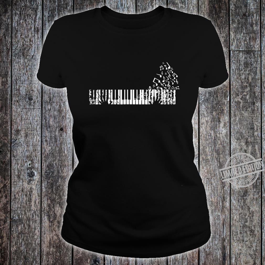 Keyboard Player Music Notes Musician Shirt ladies tee