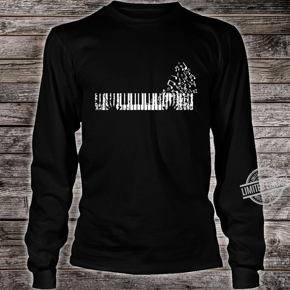 Keyboard Player Music Notes Musician Shirt long sleeved