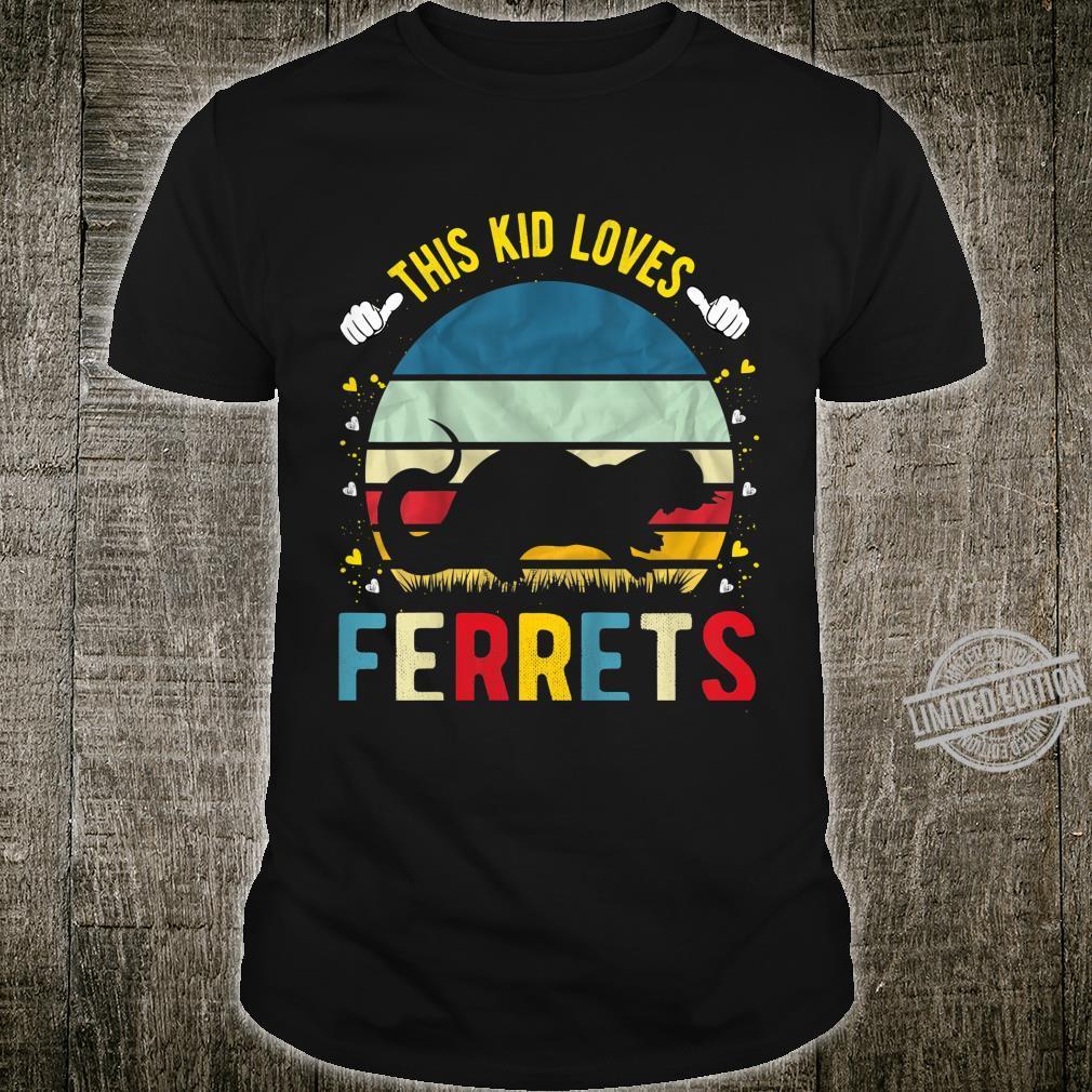 Kids This Kid Loves Ferrets Boys and Girls Ferret Shirt