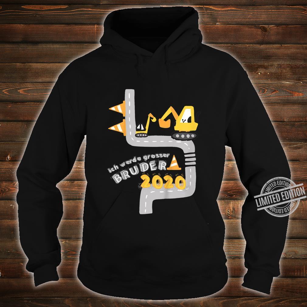 Kinder Ich werde grosser Bruder 2020 mit Bagger und Minibagger Shirt hoodie