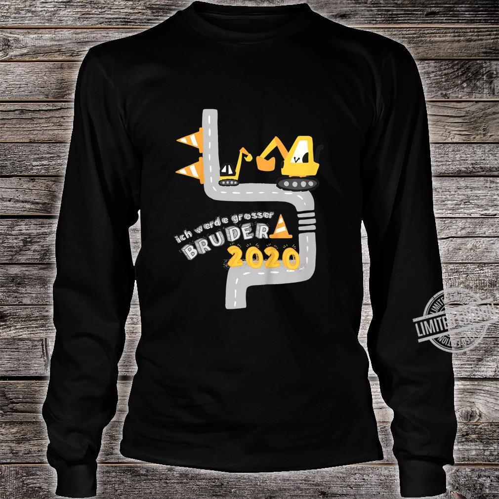 Kinder Ich werde grosser Bruder 2020 mit Bagger und Minibagger Shirt long sleeved