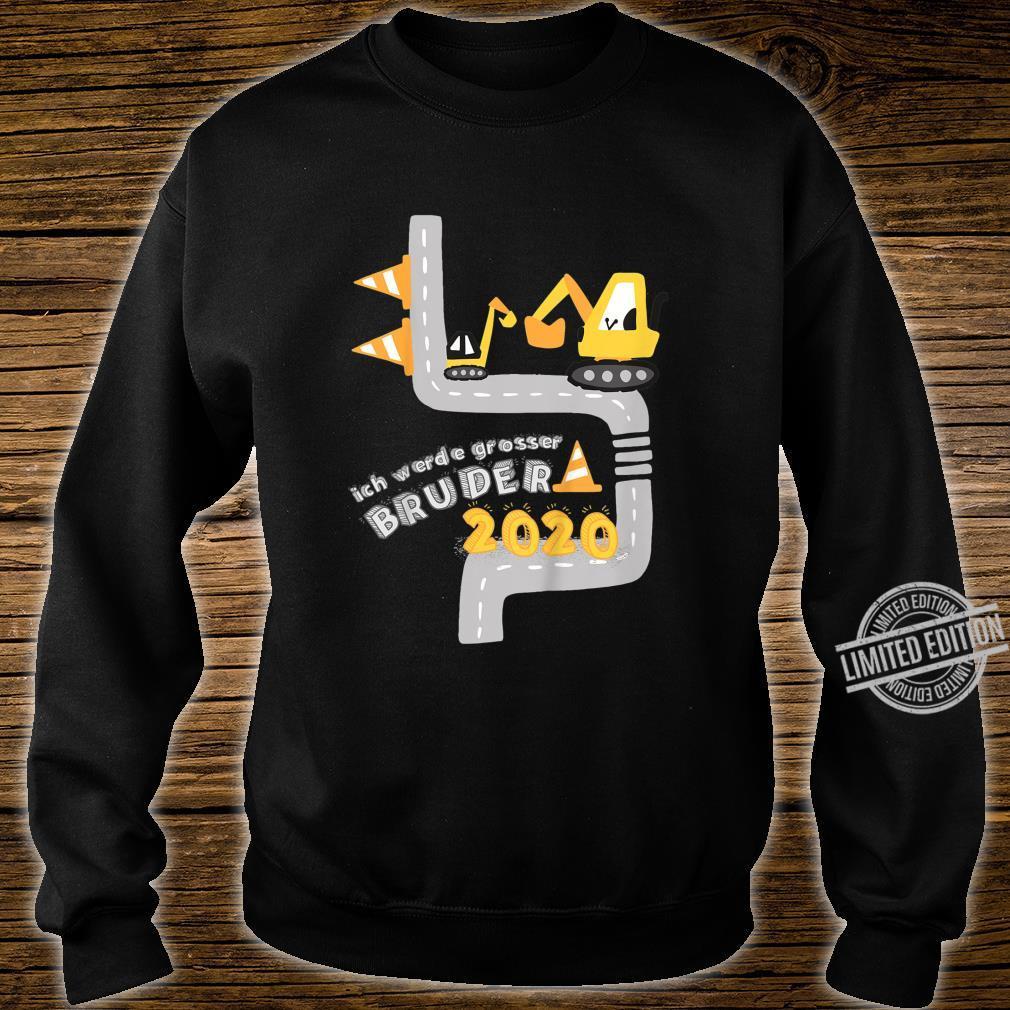 Kinder Ich werde grosser Bruder 2020 mit Bagger und Minibagger Shirt sweater
