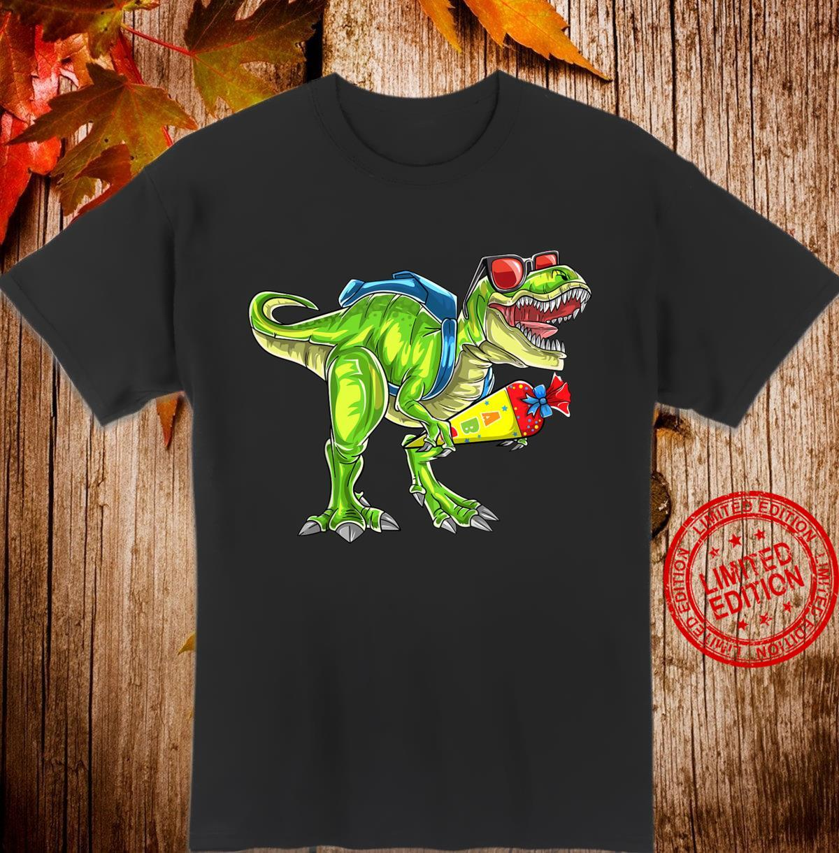 Kinder Schulkind 2020 TRex Dinosaurier Jungen Mädchen Einschulung Shirt
