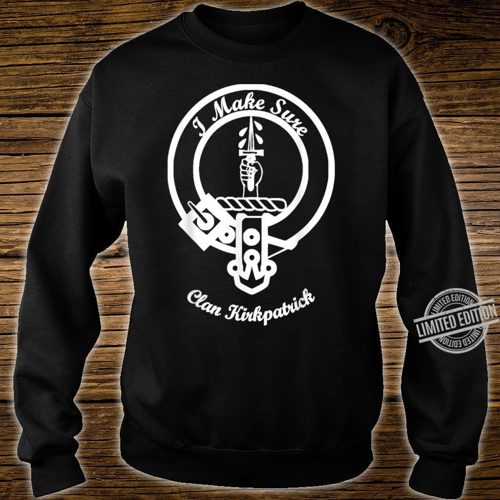 Kirkpatrick surname last name Scottish Clan tartan crest Shirt sweater