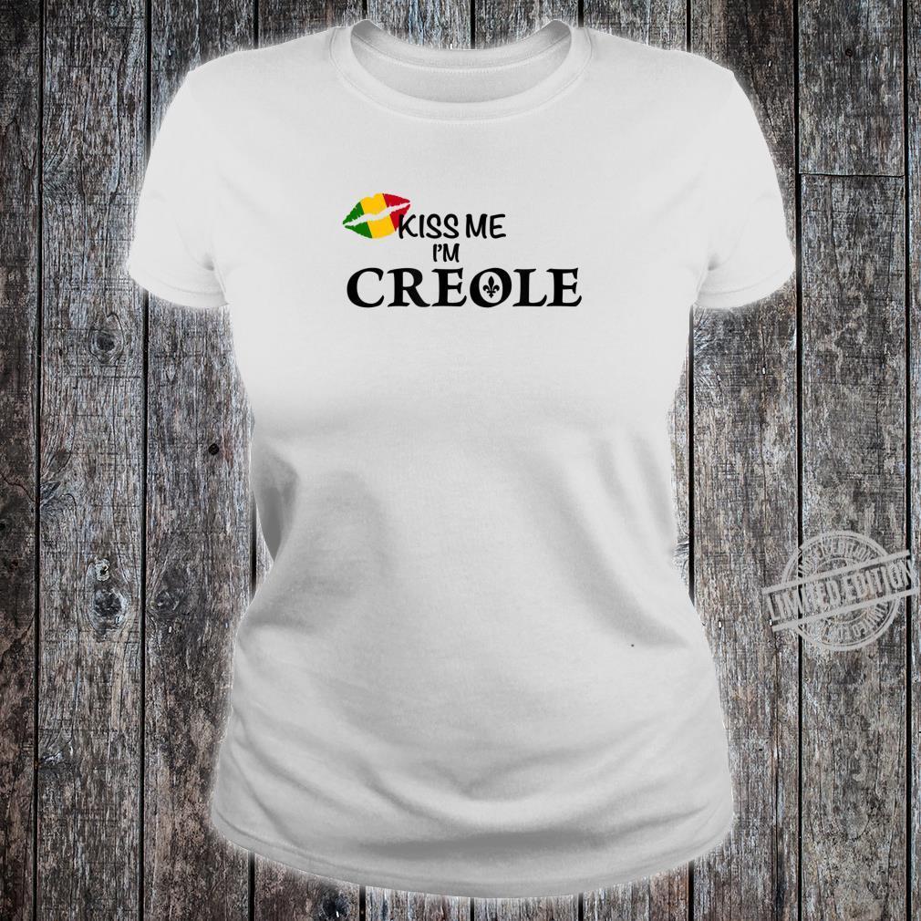 Kiss Me I'm Creole Africa Shirt ladies tee