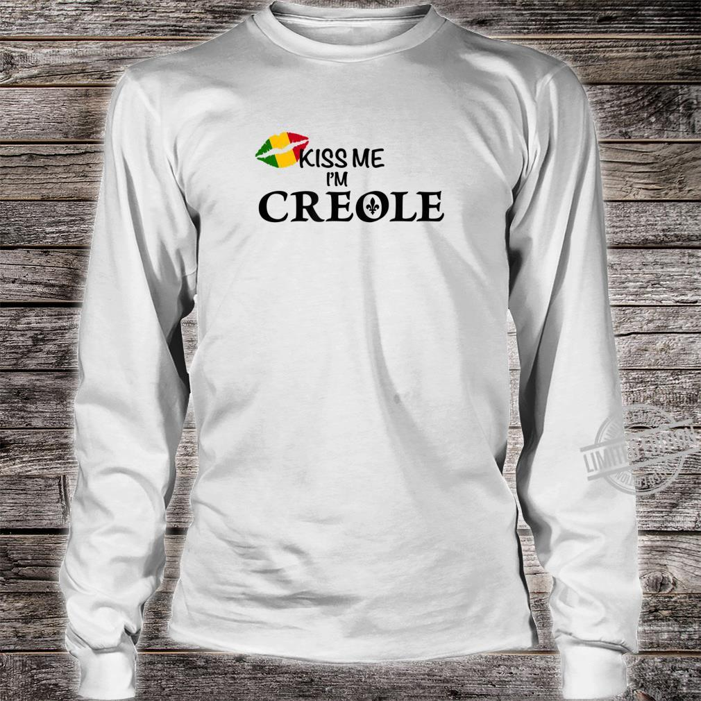 Kiss Me I'm Creole Africa Shirt long sleeved