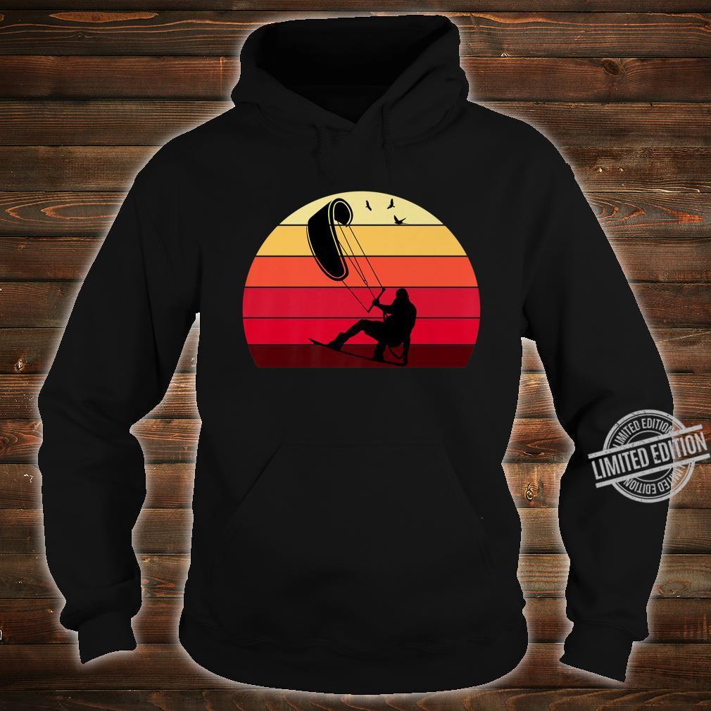 Kiteboard Retro Vintage Silhouette Distressed Shirt hoodie
