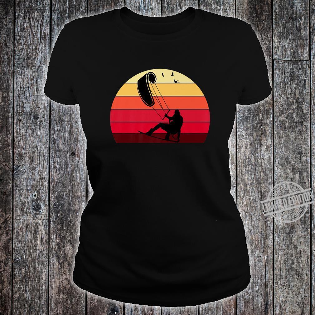 Kiteboard Retro Vintage Silhouette Distressed Shirt ladies tee