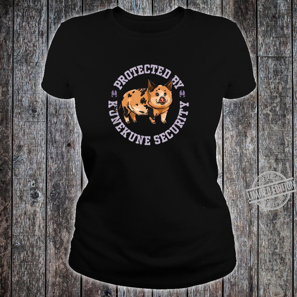 Kunekune Pig Security Shirt ladies tee