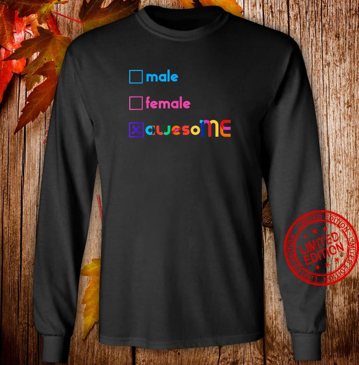 LGBTQ Pride Love Yourself Statement Shirt long sleeved