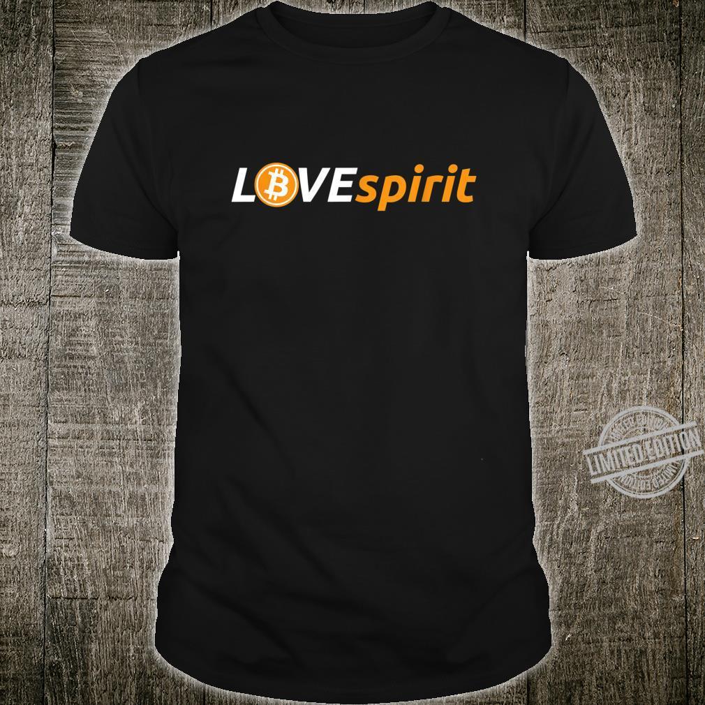 LOVEspirit BTC Logo for Crypto Fans Shirt