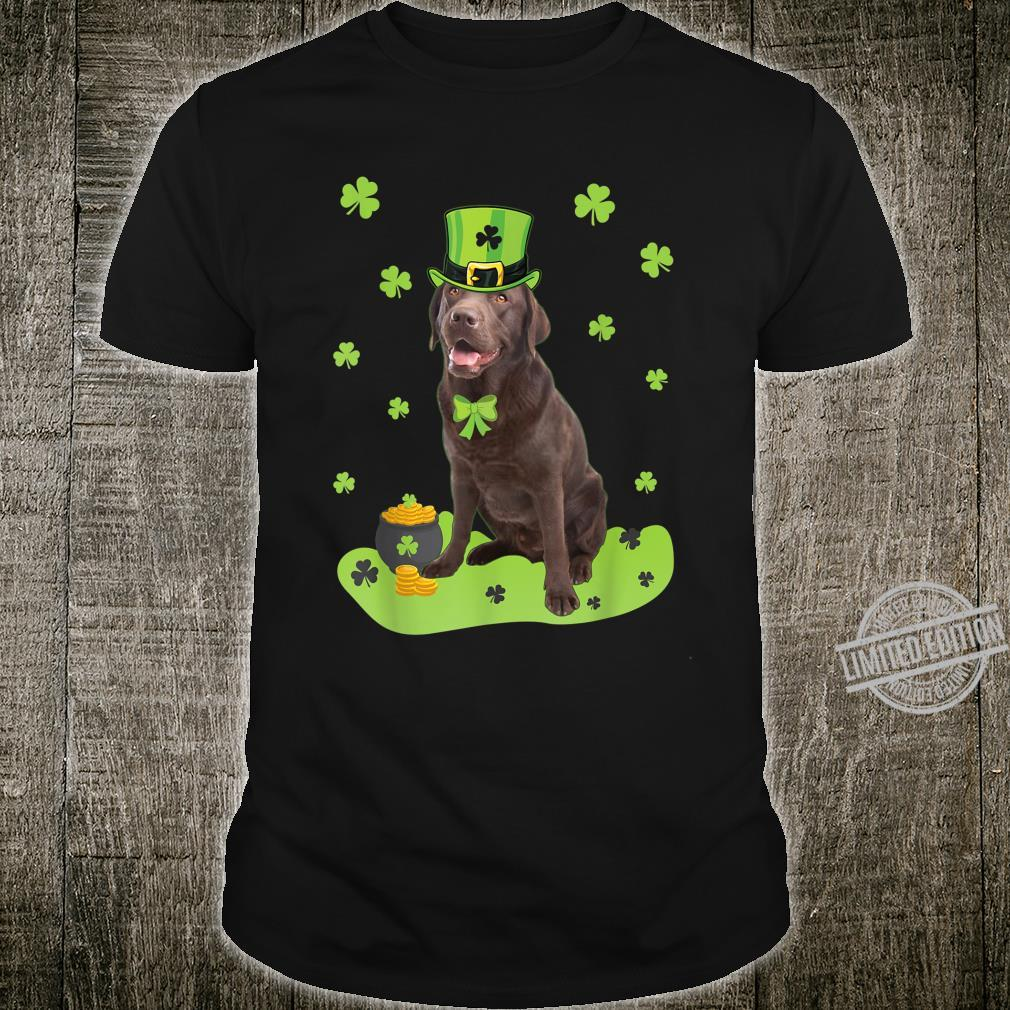 Labrador Retriever Shamrock St. Patricks Day Dog Shirt