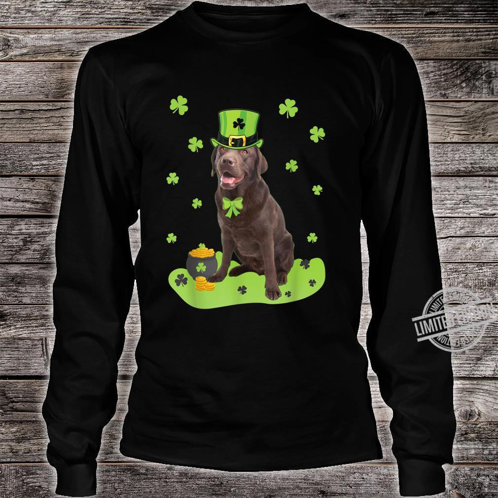 Labrador Retriever Shamrock St. Patricks Day Dog Shirt long sleeved