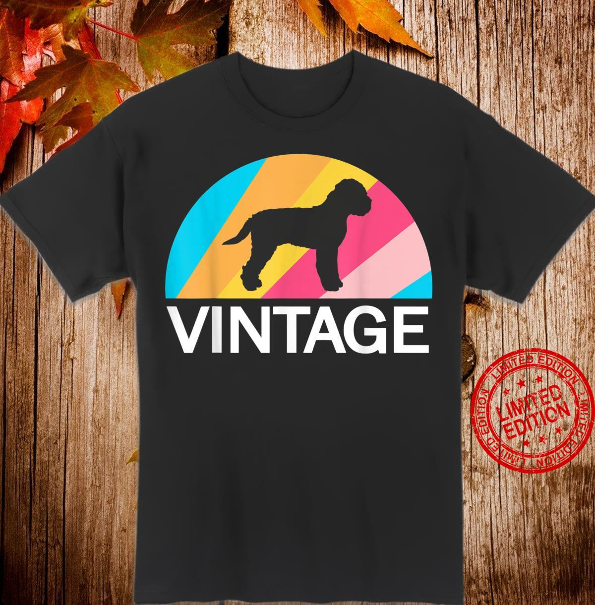 Lagotto Romagnolo Rumänischer Wasserhund Vintage Retro Hunde Shirt