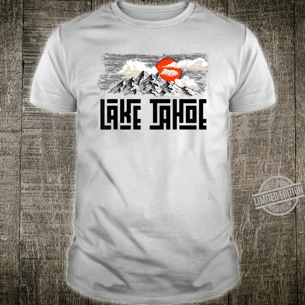 Lake Tahoe Mountains Sketch Explore Vintage Shirt
